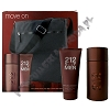 Carolina Herrera 212 Sexy Men woda toaletowa 100 ml spray + balsam po goleniu 100 ml + Torebka