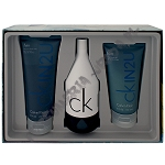 Calvin Klein CK In2U Men woda toaletowa 150 ml spray + żel pod prysznic 200 ml + żel po goleniu 150 ml
